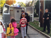 Kent Police Department Officers with Trick or Treaters