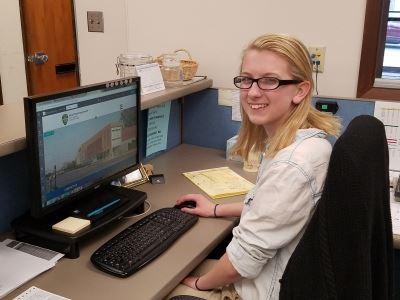 Kent Police Department Intern at Desk