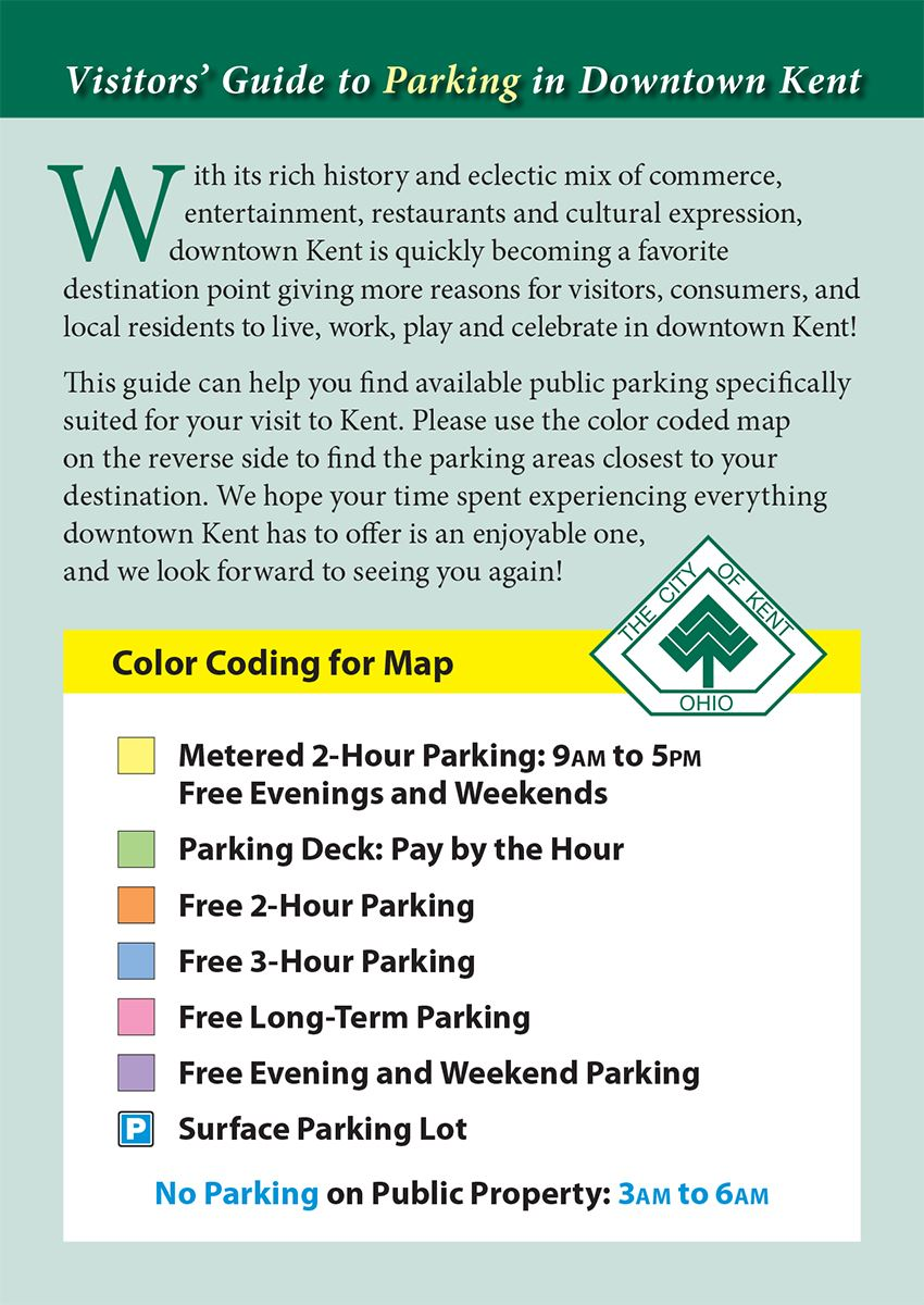 Parking Guide Introduction and Key for Parking Map