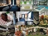 Collage of rooms, amenities, and food at Kent State University Hotel and Conference Center
